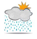 climate nuage, soleil et pluie illustration de vecteur