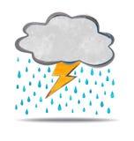 climate nuage, tonnerre et pluie illustration stock