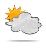 climate Nuages et soleil illustration stock