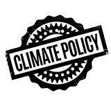 Climate Policy rubber stamp Royalty Free Stock Image