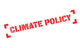 Climate Policy rubber stamp. Grunge design with dust scratches. Effects can be easily removed for a clean, crisp look. Color is easily changed Royalty Free Stock Image