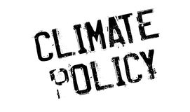 Climate Policy rubber stamp. Grunge design with dust scratches. Effects can be easily removed for a clean, crisp look. Color is easily changed Royalty Free Stock Images