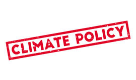 Climate Policy rubber stamp. Grunge design with dust scratches. Effects can be easily removed for a clean, crisp look. Color is easily changed Royalty Free Stock Photography