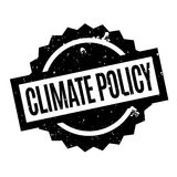 Climate Policy rubber stamp. Grunge design with dust scratches. Effects can be easily removed for a clean, crisp look. Color is easily changed Royalty Free Stock Photo