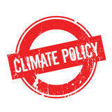 Climate Policy rubber stamp. Grunge design with dust scratches. Effects can be easily removed for a clean, crisp look. Color is easily changed Stock Photography