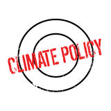 Climate Policy rubber stamp. Grunge design with dust scratches. Effects can be easily removed for a clean, crisp look. Color is easily changed Stock Images