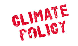 Climate Policy rubber stamp. Grunge design with dust scratches. Effects can be easily removed for a clean, crisp look. Color is easily changed Royalty Free Stock Photos
