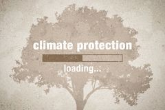 Climate protection loading. Banner with loading bar - climate protection stock illustration