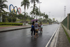 Climate: Summer in Rio de Janeiro has a rainy week Royalty Free Stock Photo
