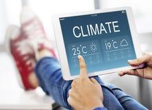 Climate Weather Forecast Temperature Concept. Climate Weather Forecast Temperature Global Stock Photos