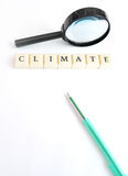 Climate word Royalty Free Stock Images