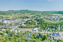 Climatic spa town Gerolstein, Germany. View on climatic spa town Gerolstein, Germany in summer day Royalty Free Stock Photos