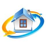Climatisation de Chambre et symbole de ventilation Image libre de droits