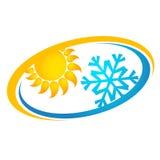 Climatisation et signe de ventilation Photographie stock