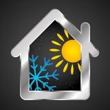 Climatisation et ventilation dans la maison Image libre de droits
