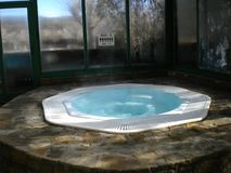 Climatized hydro massage in the Aran Valley, Lleida, Spain royalty free stock photo