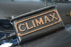 Climax sign. Detail of the sign saying climax Stock Image
