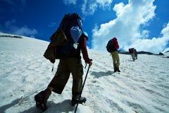 The climb. On the Caucasus mountains royalty free stock photos
