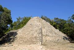 The Climb. The big pyramid in Coba, Mexico Royalty Free Stock Image