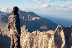 Climb. The climb on Whitney mount,California royalty free stock photos