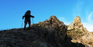 The climb_001 Royalty Free Stock Photos