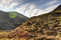 The climb( Caherconree) Royalty Free Stock Photography