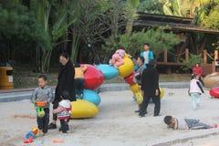 Climb the child Stock Image