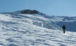 The climb in the Cordillera blanca_1 Royalty Free Stock Photos