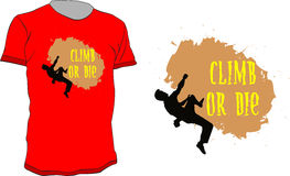Climb or die Stock Photos