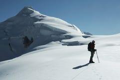 The climb on the Ishinca peak Stock Photos