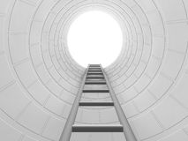 Climb the ladder to success. 3D render of a ladder leading up Royalty Free Stock Photo