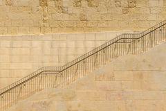 The climb ladders. With metal handrail stock image