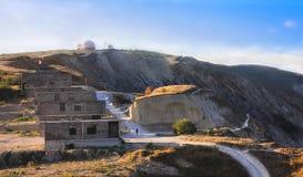 Climb the mountain in Anapa stock photos