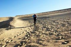 Climb sand dune Royalty Free Stock Photo