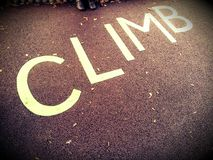 Climb Sign Royalty Free Stock Image