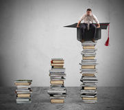 Climb to the degree and the job Stock Images