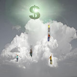 Climb to Success Stock Photography