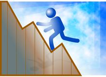 Climb to success royalty free illustration