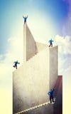 Climb to success stock image