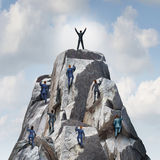 Climb To The Top Royalty Free Stock Images