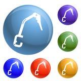 Climb tool icons set vector royalty free illustration