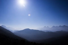 Climb top to watch panaroma Royalty Free Stock Photography