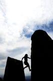 Climb Up Chimney Royalty Free Stock Photography