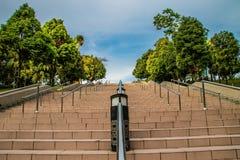 Climb up. Tha stairs at Putrajaya& x27;s square stock photo