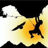 Climber. Mountain and climber illustration vector Royalty Free Stock Photo