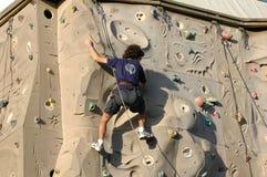 Climber. On a wall Stock Photos