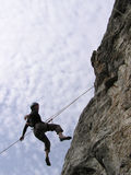 Climber. A male rock-climber on training Stock Image