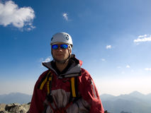 Climber. Mountains. Caucasus. Climber. The height is abt 4000 m, above sea level Stock Images