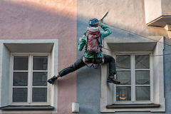 Climber on a building Stock Photos