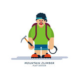 Climber in cartoon style Royalty Free Stock Photography